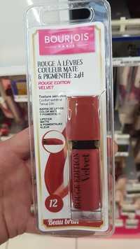 Bourjois - Velvet - Rouge à lèvres couleur mate & pigmentée 12 beau brun