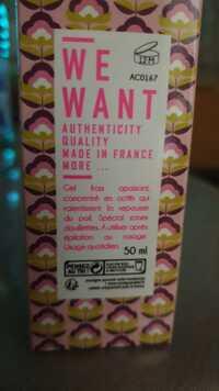 WE WANT - Authenticity quality - Gel frais apaisant