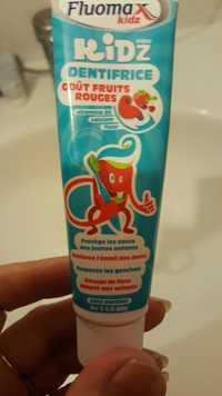 FLUOMAX - Kidz de 3 à 6 ans - Dentifrice goût fruit rouges