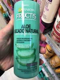 Garnier - Fructis Aloe Secado Natural - Crema gel sin aclarado