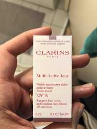 Clarins - Multi-active jour - Fluide premières rides SPF 15