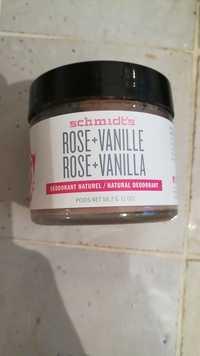 Schmidt's - Rose + vanille - Déodorant naturel
