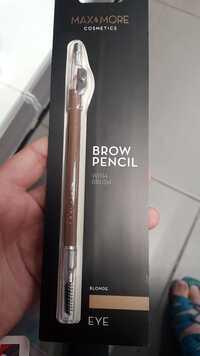 MAX & MORE - Brow pencil eye Blonde