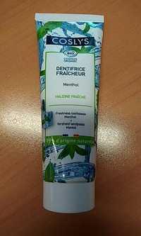 Coslys - Dentifrice fraîcheur menthol bio