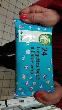 Composition Auchan Lingettes Bebe A L Aloe Vera Ufc Que