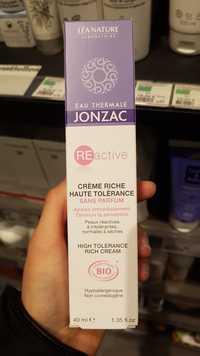 Eau Thermale Jonzac - Reactive - Crème riche haute tolérance bio