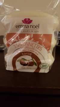 EMMA NOËL - 3 savonnettes naturelles karité bio
