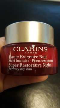 CLARINS - Haute exigence nuit - Crème redensifiante anti-taches