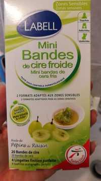 LABELL - Mini bandes de cire froide à l'huile de pépins de raisin