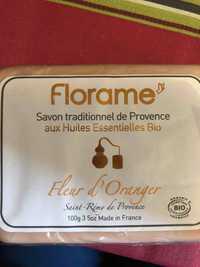 FLORAME - Fleur d'Oranger - Savon traditionnel de Provence au huiles essentielles bio