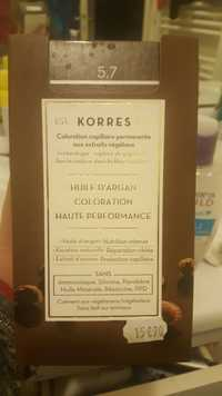 KORRES - Coloration capillaire permanente aux extraits végétaux - Huile d'argan coloration haute performance