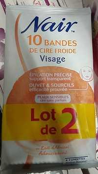 NAIR - 10 Bandes de cire froide pour visage au lait d'abricot