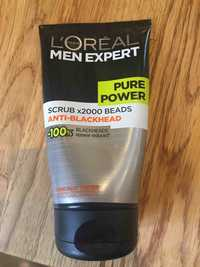 L'ORÉAL - Men expert Pure power - Scrub x2000 beads anti-blackhead