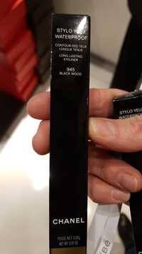CHANEL - Stylo yeux waterproof 945 black wood