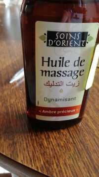 SOINS D'ORIENT - Huile de massage Dynamisant - Ambre précieux