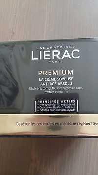 LIÉRAC - Premium - La crème soyeuse anti-âge absolu