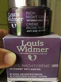 Louis Widmer - Crème riche nuit - Anti-âge intensif