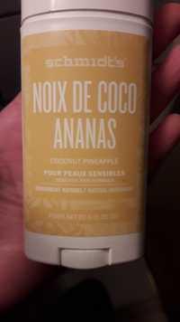 SCHMIDT'S - Noix de coco ananas - Déodorant naturel