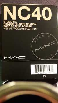 Mac - Studio fix - Fond de teint poudre NC40
