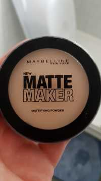 Maybelline - Matte maker - Mattifying powder 20 nude beige