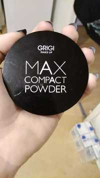 GRIGI MAKE UP - Max compact powder