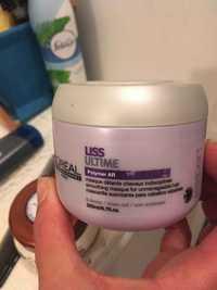 L'ORÉAL - Liss ultime Polymer Ar - Masque détente cheveux indisciplinés