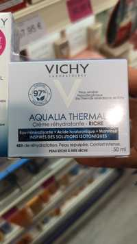 VICHY - Aqualia thermal - Crème réhydratante riche