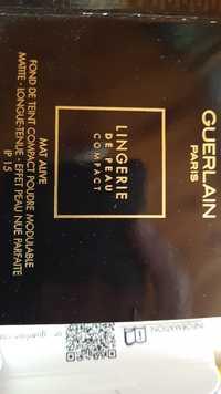 Guerlain - Lingerie de peau compact mat alive - Fond de teint